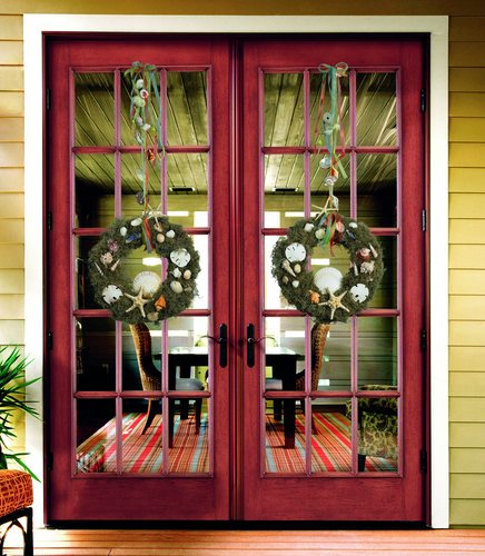 Christmas Decorations Sliding Glass Doors : Decorative wreaths for fall winter