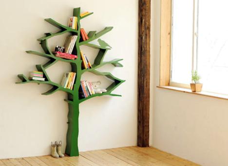 Bookcase Tree Design
