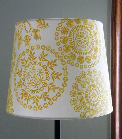 ... Lampshade With Dark Yellow Print: I ...